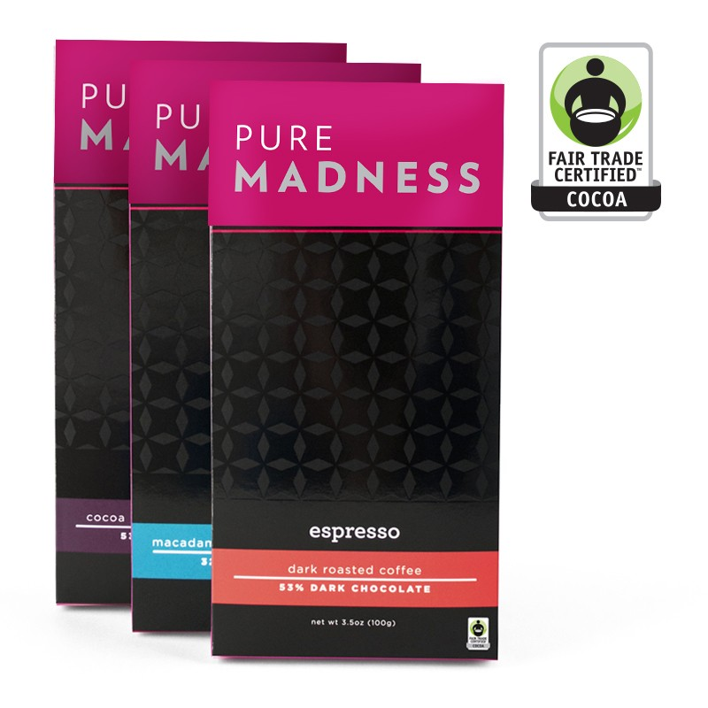 PURE MADNESS FAIR TRADE BARS